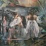 Anna Lou Drømmende landskap 140 x 140 cm