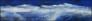 Fjell (blå) 170 x 40 cm