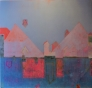 Metaforisk landskap III 135 x 135 cm