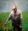 Le jardinier 130 x 130 cm