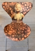 7eren Marylin Monroe Art Chair
