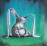 Forloren hare - 30 x 30 cm