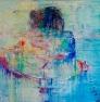 Rainbow in love 140 x  140 cm