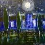 Stjernenatt 80 x 80 cm