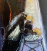 Jesusbarnet i krybben 150 x 190 cm
