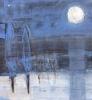 Blå mystisk natt 2 80 x 80 cm