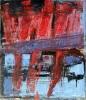 Brudd 100 x 115 cm. Malt på blekkplate