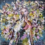 Merete Meier - A girl who is in love withe the world I 100 x 100 cm