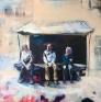 Stein Smaaskjær - Piazza Santa Croce 100 x 100 cm