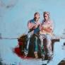 2 uomini in panchina 100 x 100 cm
