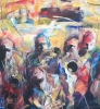 One in a crowd 200 x 120 cm