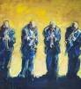 The four music men 150 x 130 cm