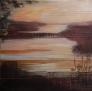 Lyttende landskap 120 x 120 cm