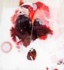 Rød snø plexi 40 x 40 cm