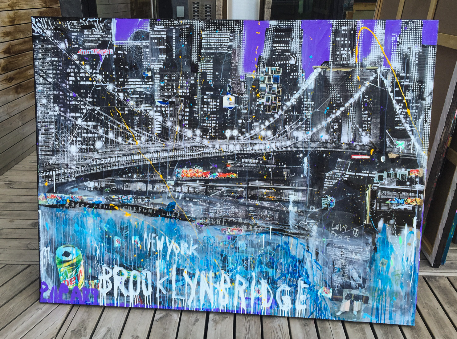 2 NYC Brooklyn Bridge 180 x 135 cm