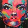 colour portrait 140 x 140 cm