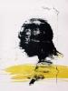 Profil au trait jaune 76x56cm