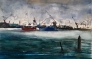 Harbour 1 Akvarell