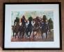 Horse race 1 Akvarell innrammet