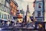 Oslo 2 Akvarell