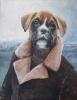 Boxer ved havet 90 x 70 cm