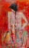 Apple Girl in the flame of Love 90 x 150 cm