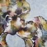 The kiss 140 x 140 cm