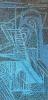 Blue structure 95 x 200 cm