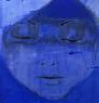 China girl 1 blue 110 x 110 cm