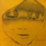 China girl 2 yellow 110 x 110 cm