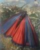 Sommerfuglene Karminspinner 100 x 120 cm