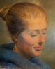 Portrett 150 x 185 cm olje på lerret