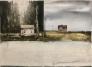 Akvarell hus 76 x 56 cm