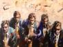 Five sax men 160 x 120 cm