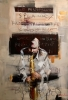Saxofonist 70 x 100 cm