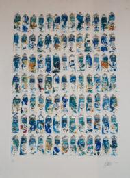 Arman Tubes bleues 28Ex125_70x100cm