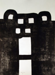 Edouardo Chillida Gurutze Gorria Ex150_56x76cm 1984