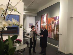 Pia Villefrance Dann sin utstilling i Galleri Nobel