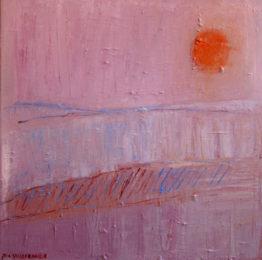 Pia Villefrance Dann sitt maleri Dimman