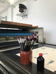 Gro Mukta Holter-grafikk i produksjon