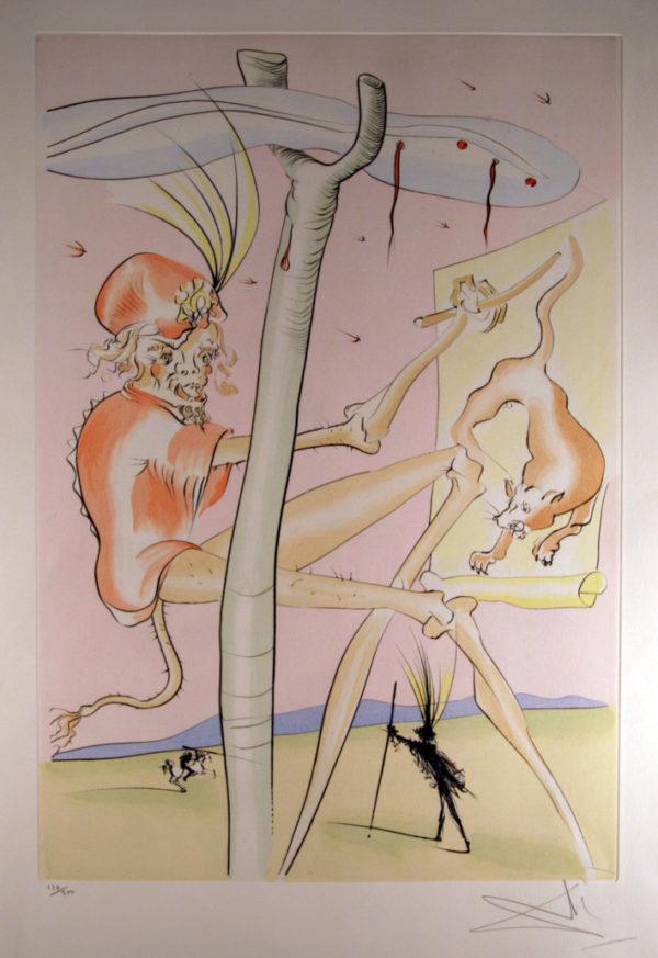 Salvador Dalí - Le Singe et le Leopard