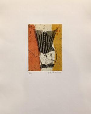 Kjeld Ulrich - 11 Uten tittel KORSETT Etsning Ed60 Papir 38x48cm