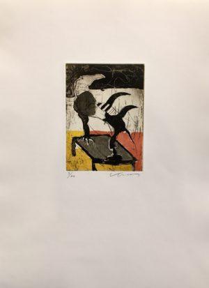 Kjeld Ulrich - 13 Uten tittel TABLE Etsning Ed60 Papir 38x48cm