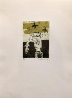 Kjeld Ulrich - 14 Uten tittel PLANT Etsning Ed60 Papir 38x48cm