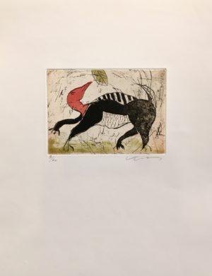 Kjeld Ulrich - 15 Uten tittel ANIMAL Etsning Ed60 Papir 38x48cm