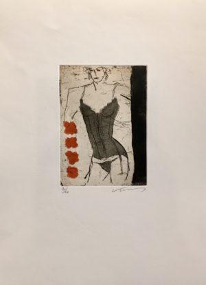 Kjeld Ulrich - 20 Uten tittel MODEL Etsning Ed60 Papir 38x48cm