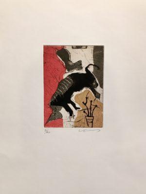 Kjeld Ulrich - 21 Uten tittel KICK Etsning Ed60 Papir 38x48cm