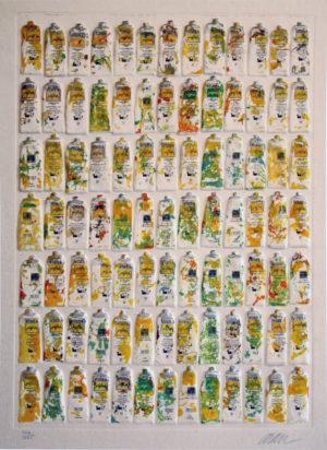 Arman Tubes jaunes 106Ex125_70x100cm