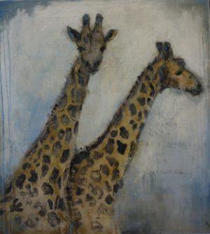 Annethe Østensen Giraffa 40 x 40 cm Giclée Opplag 50