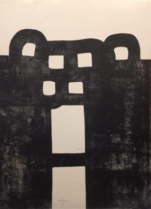 Eduardo Chillida - Gurutze Gorria I Edf150 56x76cm 1984
